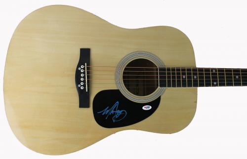 Mark Hoppus Blink 182 Signed Acoustic Guitar PSA/DNA #Q51234