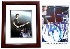 Mark Hoppus Signed - Autographed BLINK 182 Singer 11x14 inch Photo MAHOGANY CUSTOM FRAME - Guaranteed to pass PSA or JSA