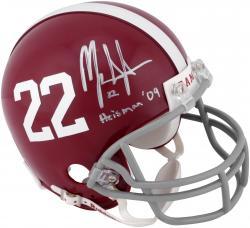 Mark Ingram Alabama Crimson Tide Autographed Riddell Mini Helmet with Heisman 09 Inscription