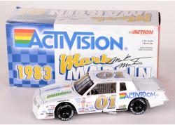 Mark Martin #1 1983 White Activision NASCAR 1:24 Diecast Car