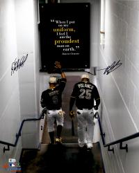 Gregory Polanco & Starling Marte Pittsburgh Pirates Dual Autographed 16'' x 20'' Walking Down Tunnel Photograph
