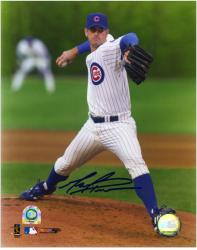 """Mark Prior Chicago Cubs Autographed 8"""" x 10"""" MLB White Jersey Photograph"""