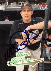 Mark Redman autographed baseball card (Florida Marlins) 2004 Fleer Ultra #143