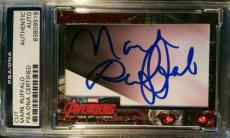 Mark Ruffalo Incredible Hulk Avengers Age of Ultron 2015 UD Signed AUTO PSA/DNA
