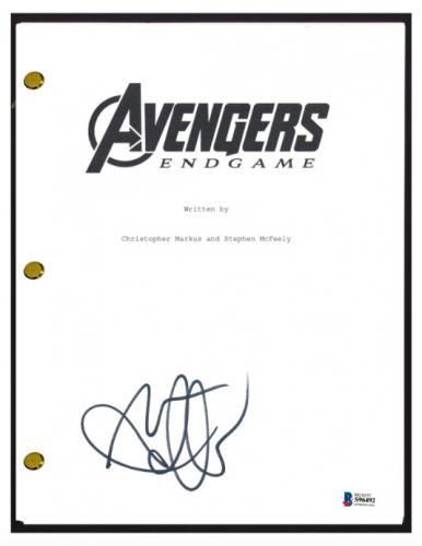 Mark Ruffalo Signed Autographed AVENGERS ENDGAME Script Screenplay Beckett COA