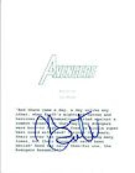 Mark Ruffalo Signed Autographed THE AVENGERS Full Movie Script COA VD