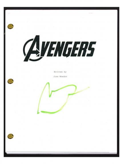 Mark Ruffalo Signed Autographed THE AVENGERS Script Screenplay COA
