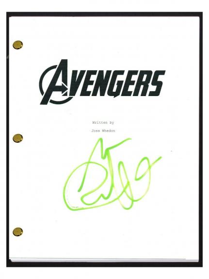 Mark Ruffalo Signed Autographed THE AVENGERS Script Screenplay COA