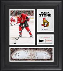 """Mark Stone Ottawa Senators Framed 15"""" x 17"""" Collage with Piece of Game-Used Puck"""