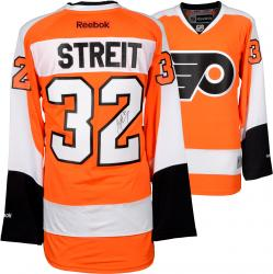 Mark Streit Philadelphia Flyers Autographed Orange Reebok Premier Jersey