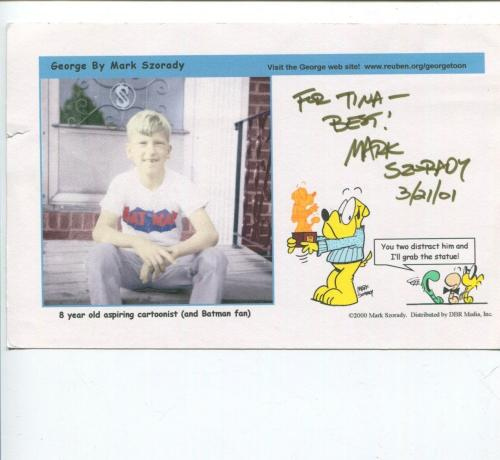 Mark Szorady Cartoonist Artist George Signed Autograph Photo