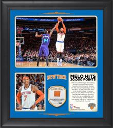 "Carmelo Anthony New York Knicks 20,000 Point Club 15"" x 17"" Collage With Team-Used Basketball – Limited Edition of 250"