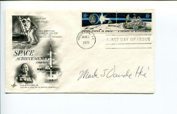 Mark Vande Hei NASA Astronaut Space Signed Autograph FDC