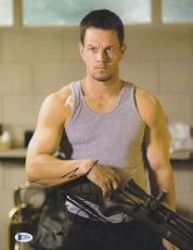 "Mark Wahlberg Autographed 11"" x 14"" 2 Guns Holding Gun Photograph - BAS COA"
