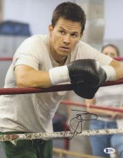 """Mark Wahlberg Autographed 11"""" x 14"""" The Fighter Leaning on Boxing Ropes Photograph - BAS COA"""
