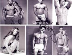 Mark Wahlberg Autographed 8x10 Calvin Klein Photo UACC RD