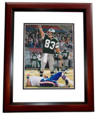 Mark Wahlberg Signed - Autographed 8x10 INVINCIBLE Photo MAHOGANY CUSTOM FRAME as Vince Papale
