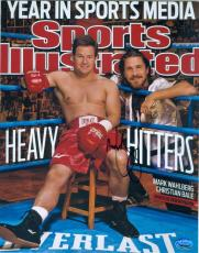 Mark Wahlberg autographed 8x10 Photo (The Fighter Boxing Movie Micky Ward) Image #SC2 Magazine Cover Picture