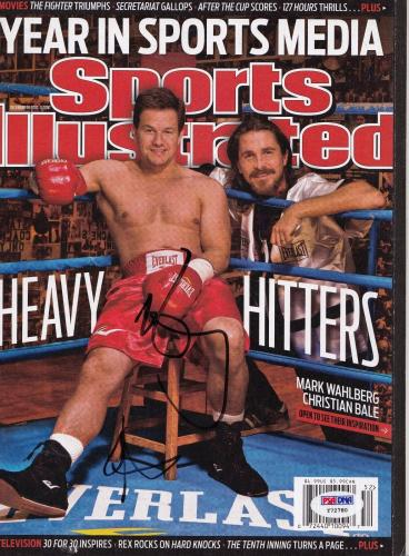 Mark Wahlberg autographed Fighter Sports llustrated magazine PSA/DNA (Y72780)