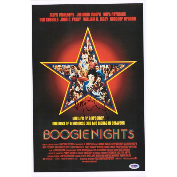"""Mark Wahlberg Boogie Nights Autographed 12"""" x 18"""" Movie Poster - PSA"""