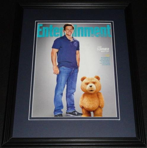 Mark Wahlberg Framed ORIGINAL 2012 Entertainment Weekly Cover Ted