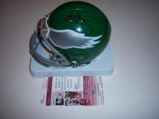 Mark Wahlberg Signed Mini Helmet - Invincible papale philadelphia Eagles Jsa coa
