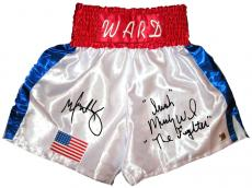 "Mark Wahlberg & ""Irish"" Micky Ward ""The Fighter"" Signed Trunks"