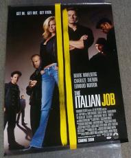 Mark Wahlberg Mos Def Seth Green Signed The Italian Job 27x40 Poster PSA/DNA COA
