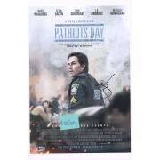 "Mark Wahlberg Patriots Day Autographed 12"" x 18"" Movie Poster - BAS"
