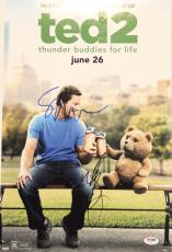 """MARK WAHLBERG & SETH MACFARLANE Signed """"TED 2"""" 12x18 Photo Poster PSA/DNA Z64197"""