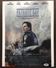 Mark Wahlberg Signed 11x14 Photo Autograph Psa Dna Coa Patriots Day