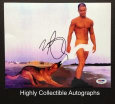 Mark Wahlberg Signed 8x10 Photo Autograph Psa Dna Coa Calvin Klein