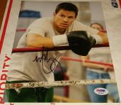 Micky Ward Autographed Photograph - Mark Wahlberg PSA DNA 8x10 The Fighter Mickey