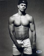 Mark Wahlberg Signed Autograph 8x10 Photo CALVIN KLEIN Shirtless Pose BAS COA