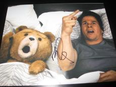 MARK WAHLBERG SIGNED AUTOGRAPH 8x10 PHOTO TED PROMO TEDDY BEAR COA AUTO RARE H