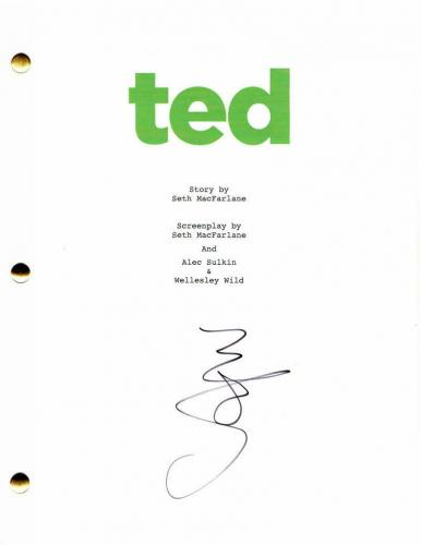 Mark Wahlberg Signed Autograph - Ted Full Movie Script - Seth Macfarlane, 2