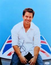Mark Wahlberg Signed Autographed 11X14 Photo Sexy Sitting on Car JSA F06771