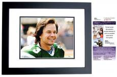 Mark Wahlberg Signed - Autographed INVINCIBLE 11x14 inch Photo BLACK CUSTOM FRAME as Vince Papale - JSA Certificate of Authenticity
