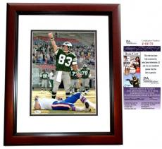 Mark Wahlberg Signed - Autographed INVINCIBLE 11x14 Photo MAHOGANY CUSTOM FRAME as Vince Papale - JSA Certificate of Authenticity