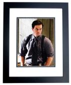 Mark Wahlberg Signed - Autographed The Departed 11x14 inch Photo BLACK CUSTOM FRAME - Guaranteed to pass PSA or JSA