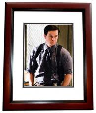 Mark Wahlberg Signed - Autographed The Departed 11x14 Photo MAHOGANY CUSTOM FRAME