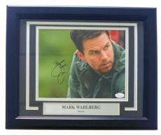 Mark Wahlberg Signed Framed Shooter 8x10 Photo JSA