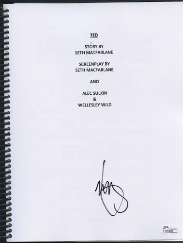 "MARK WAHLBERG SIGNED FULL MOVIE SCRIPT ""TED"" by SETH MACFARLANE w/ JSA COA"