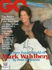 MARK WAHLBERG Signed GQ Magazine with PSA/DNA COA (NO Label)