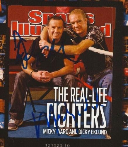 MARK WAHLBERG signed MICKY WARD DICKY EKLUND SPORTS ILLUSTRATED SI 12/20/10 COA