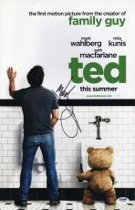 Mark Wahlberg Signed Ted 11x17 Poster Psa Coa Y58338