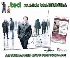 """MARK WAHLBERG Signed """"TED"""" ACTOR Autographed 8x10 PHOTO - JSA #I84587"""