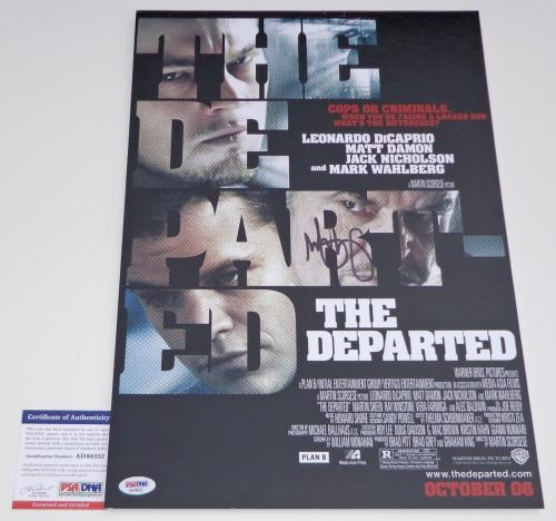 Mark Wahlberg Signed The Departed 12x18 Movie Poster Psa Coa Ad48332