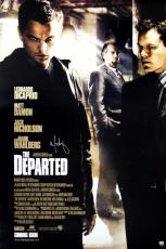 Mark Wahlberg Signed THE DEPARTED Poster