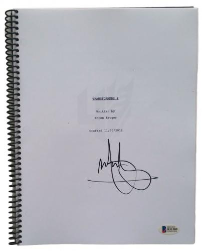 "Mark Wahlberg Signed ""Transformers 4"" Full Movie Script Beckett BAS"